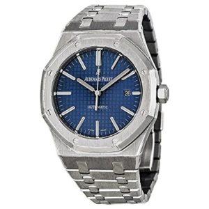 Audemars Piguet Royal Oak Blue Dial Stainless Steel Mens Watch