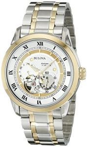 Bulova Mens 98A123 BVA-SERIES Two-Tone Stainless Steel Automatic Bracelet Watch