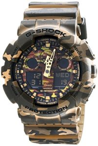 Casio G-Shock Camouflage Dial Resin Quartz Mens Watch GA100CM-5A