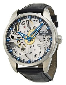 Complication Squelette Analog Display Swiss Mechanical Hand Wind Brushed Stainless Steel watch