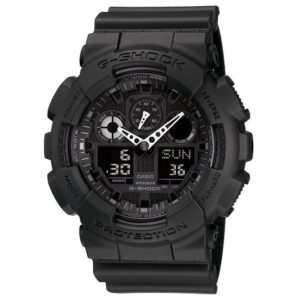 G-SHOCK The GA 100 Military Series Watch in Black,Watches for Men